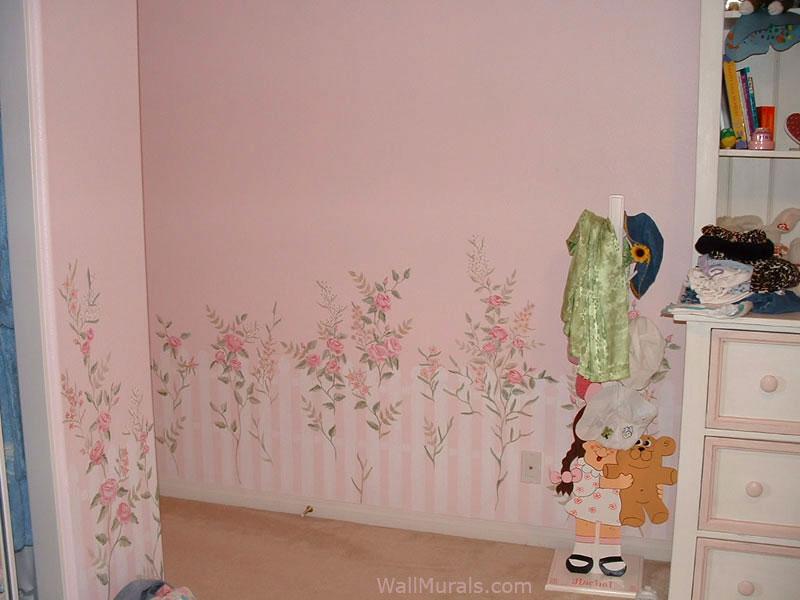 Wallpaper Border For Girl Nursery Girls Room Wall Murals Examples Of Wall Murals For Girls