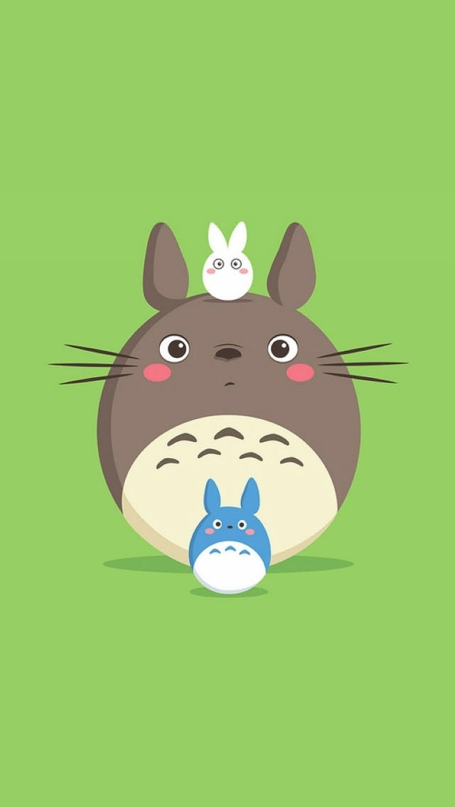 Cute Totoro Wallpaper かわいい系 7位 Iphone スマホ壁紙 Wallpaperbox