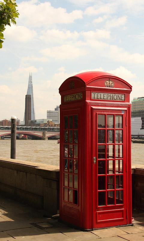 Vintage Iphone Wallpaper London Rote Telefonzelle Handy Hintergrundbilder Kostenlos