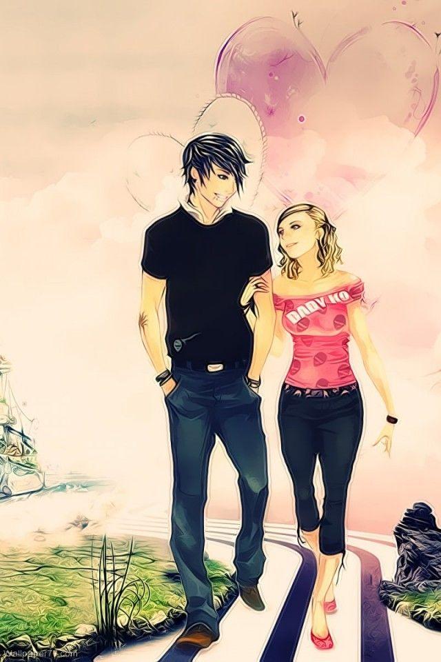 Cute Cartoon Couple Wallpaper Download Free Beautiful Cartoon Girls