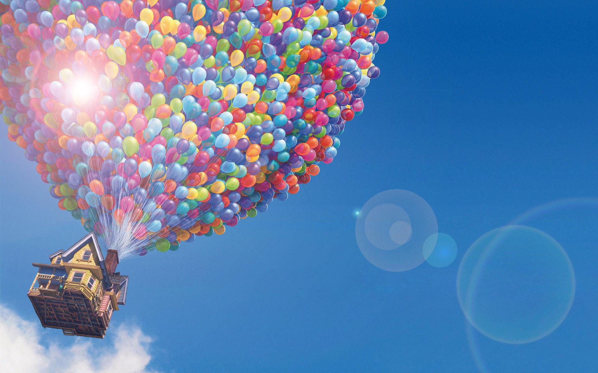 Animated Mobile Phone Wallpapers Flowers Up Disney House Balloons Light Hd Wallpaper Movies And