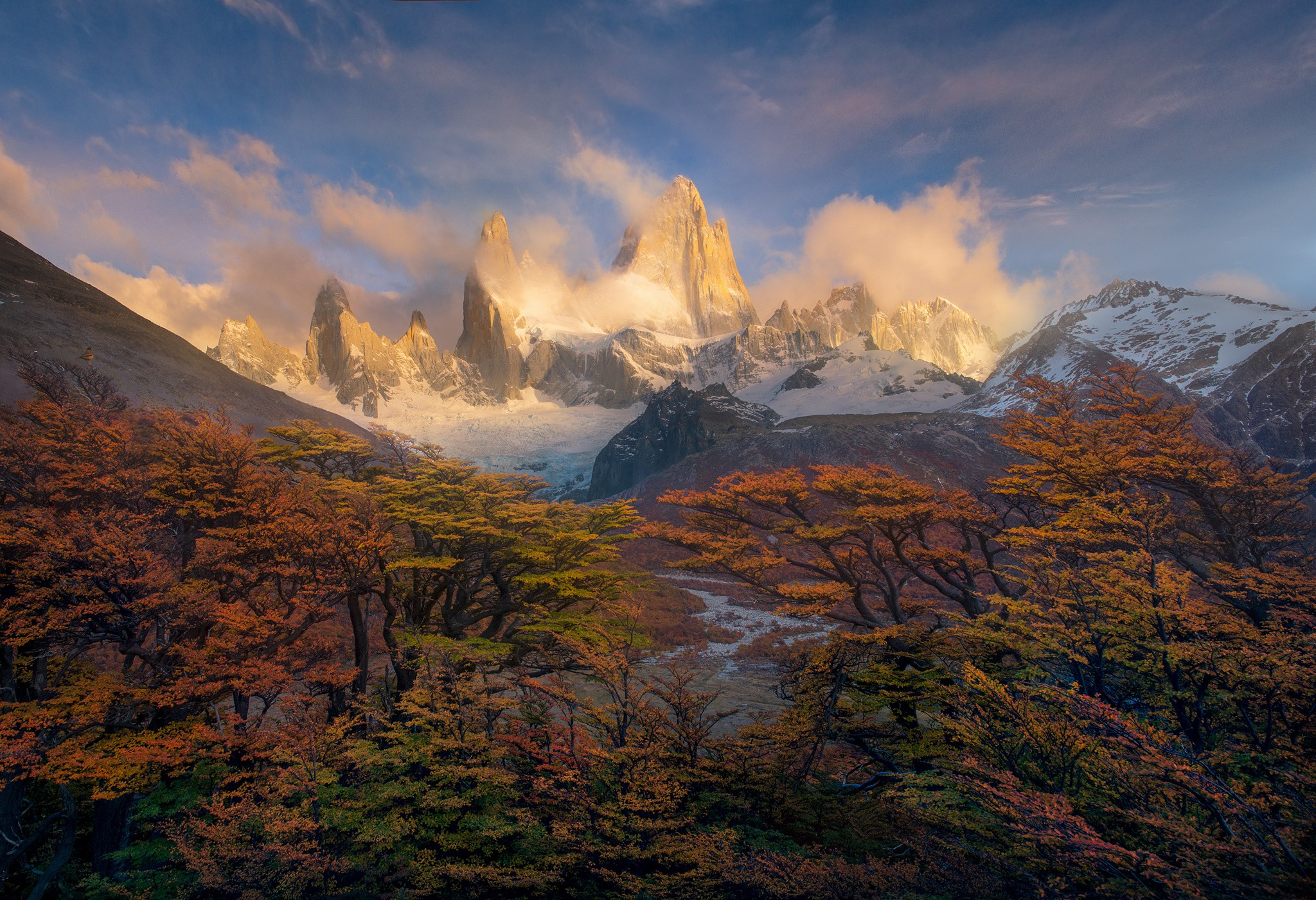 Colorful Fall Scene Wallpaper South America Patagonia Autumn Wallpaper Nature And