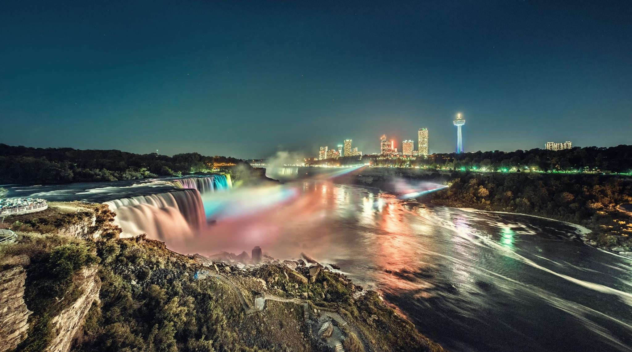 Animated Flowers Wallpapers Free Download Niagara Falls At Night Wallpaper Nature And Landscape