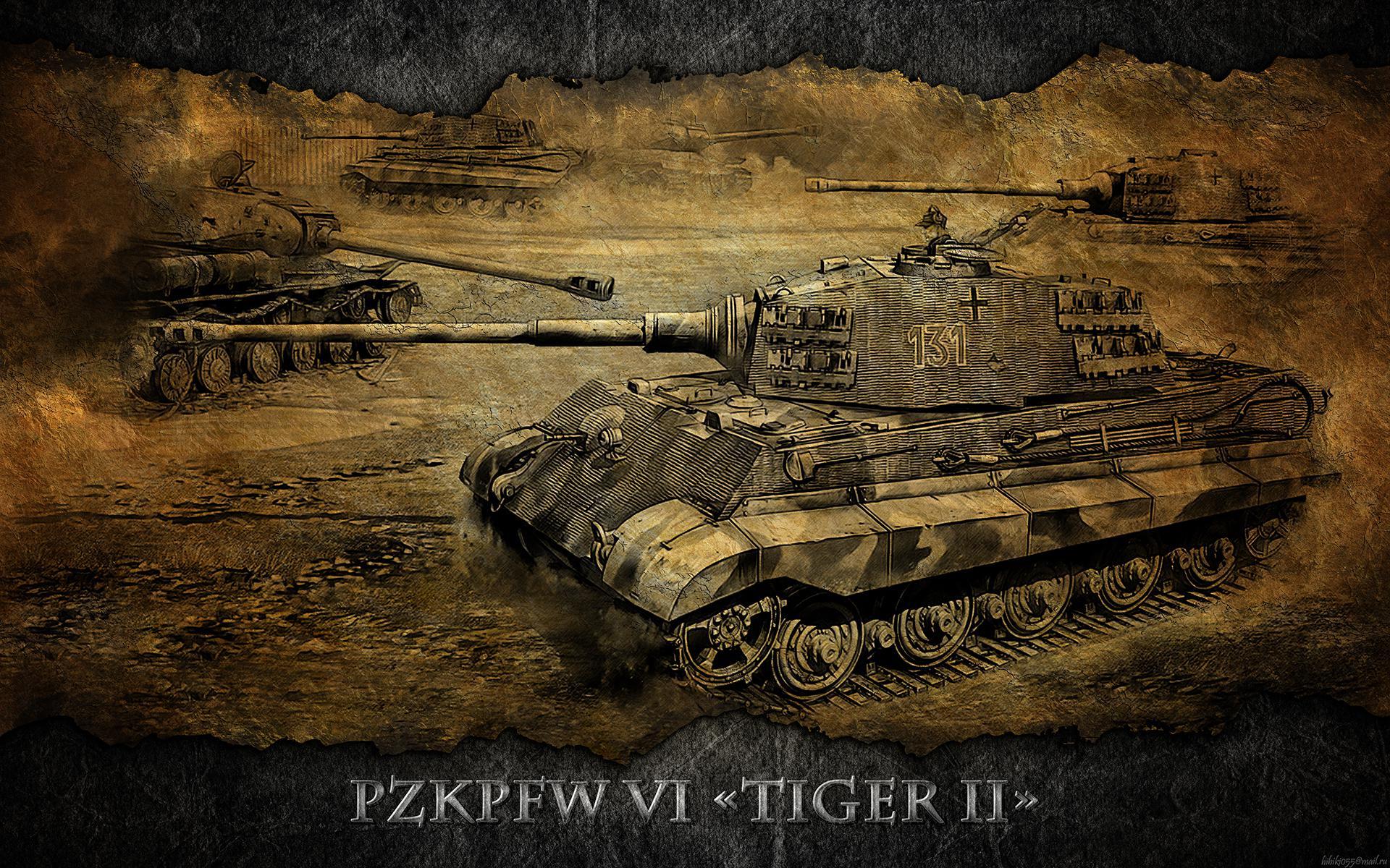 Girls Und Panzer Hd Wallpaper World Of Tanks Tanks Pzkpfw Vib Tiger Ii Games Wallpaper