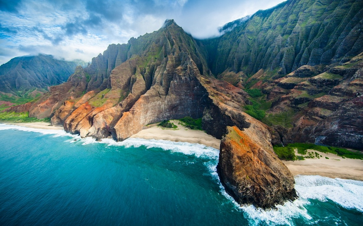 Cute Wallpapers For Girls In The Fall Nature Landscape Aerial View Coast Beach Cliff Sea
