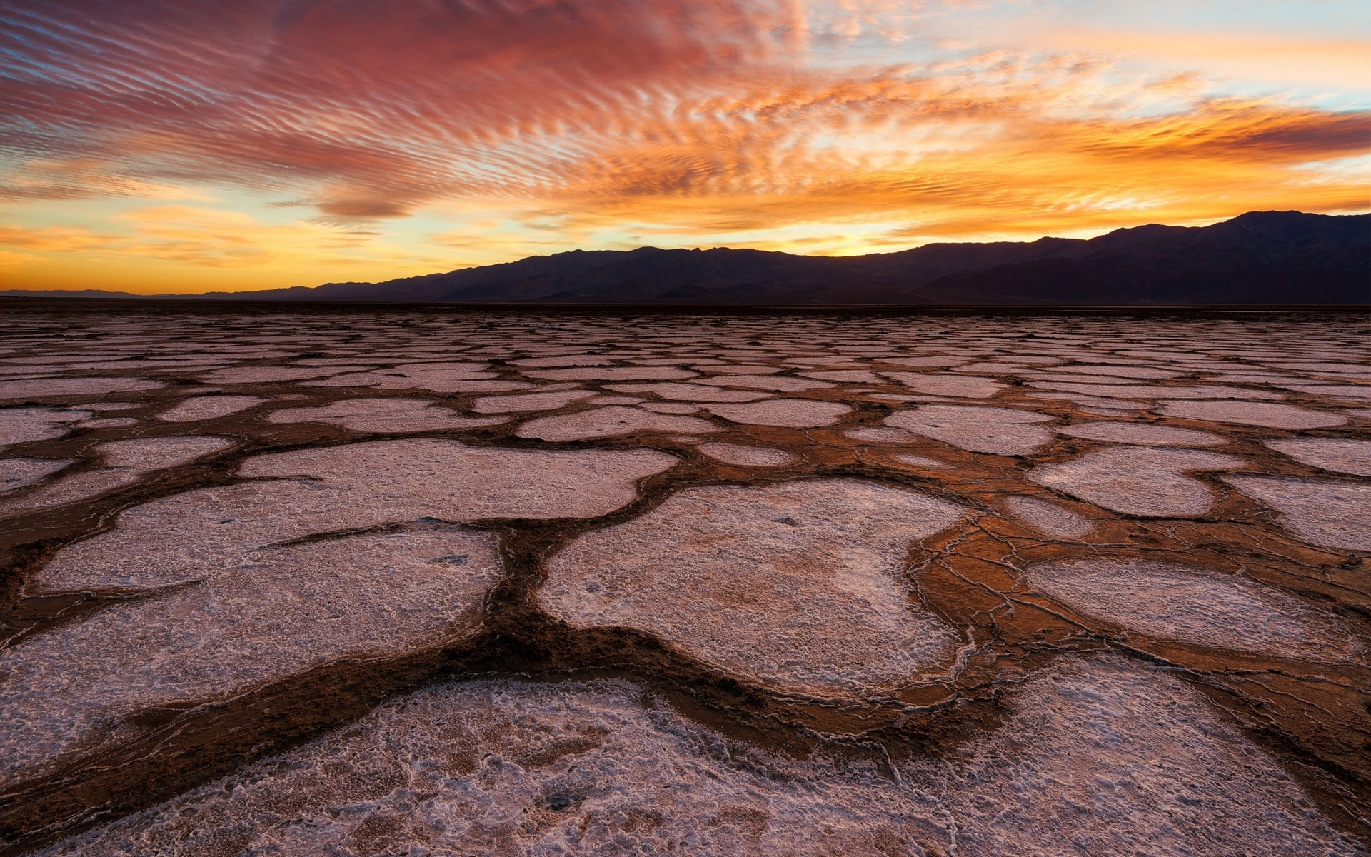 Wallpaper Cute Plain Death Valley Usa California Desert Sunset Red Sky