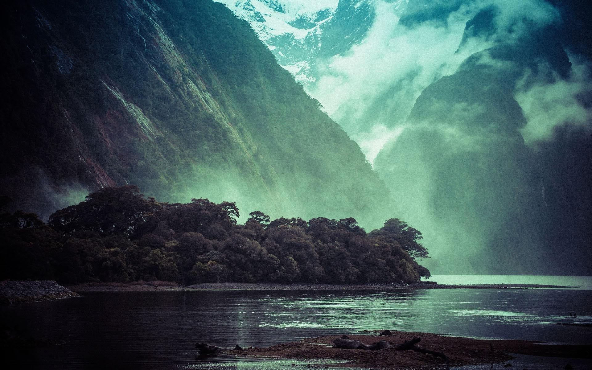 3d Live Waterfall Wallpapers Foggy Fjord Wallpaper Nature And Landscape Wallpaper