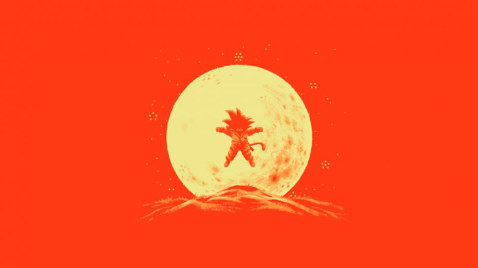 Dragon Ball Z 3d Wallpaper Download Dragon Ball Z Moonlight Moon Goku Kid Goku Saiyan