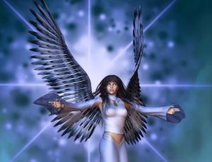 Download Sad Girl Mobile Wallpapers Nokia E71 Fantasy Girl Cyborg Cyberpunk Angels Demon Wallpaper