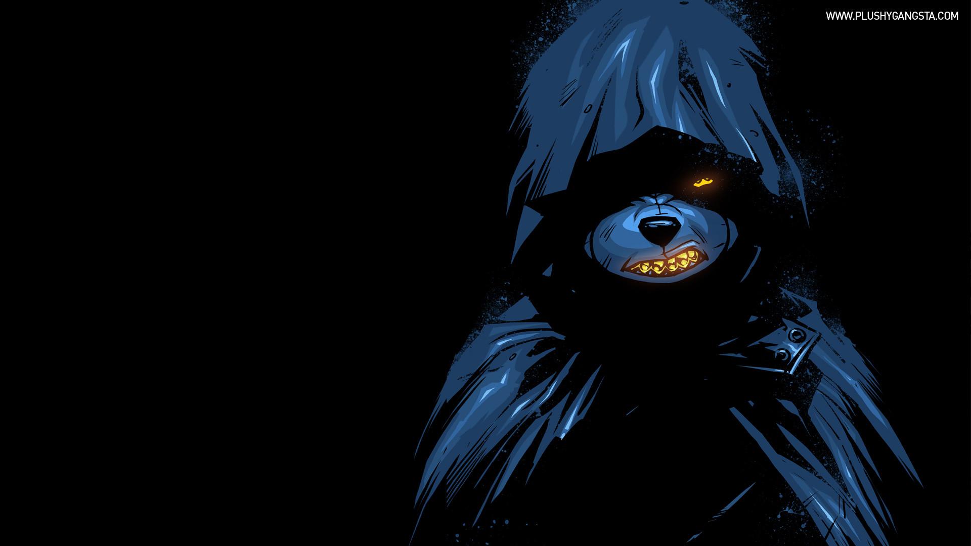 Free Wallpapers Of Cute Teddy Bears Teddy Bear Gangster Black Hoodie Hd Wallpaper Anime