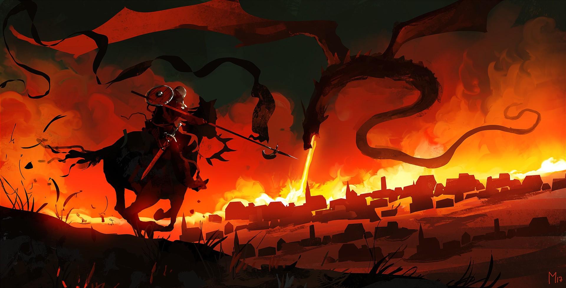 Heavy Bikes And Cars Wallpapers Free Download Fantasy Art Digital Art Artwork Dragon Fire Knight