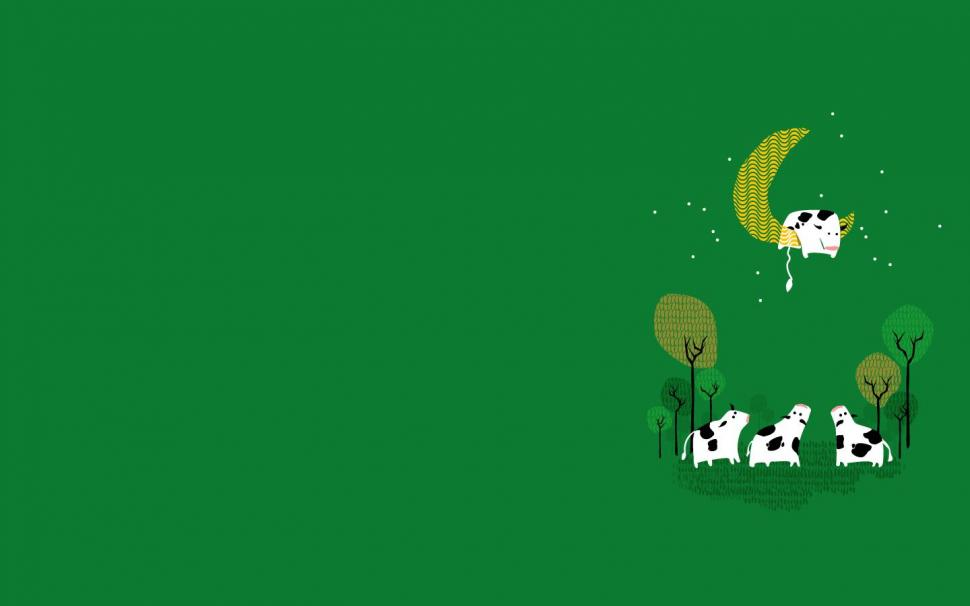 Computer Wallpaper For Teenage Girls Minimalism Simple Abstract Green Background Wallpaper