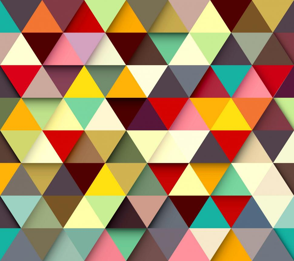 Cute Red Blue And Yellow Hd Graphic Flowers Wallpaper Paint Triangle Wallpaper 3d And Abstract Wallpaper Better