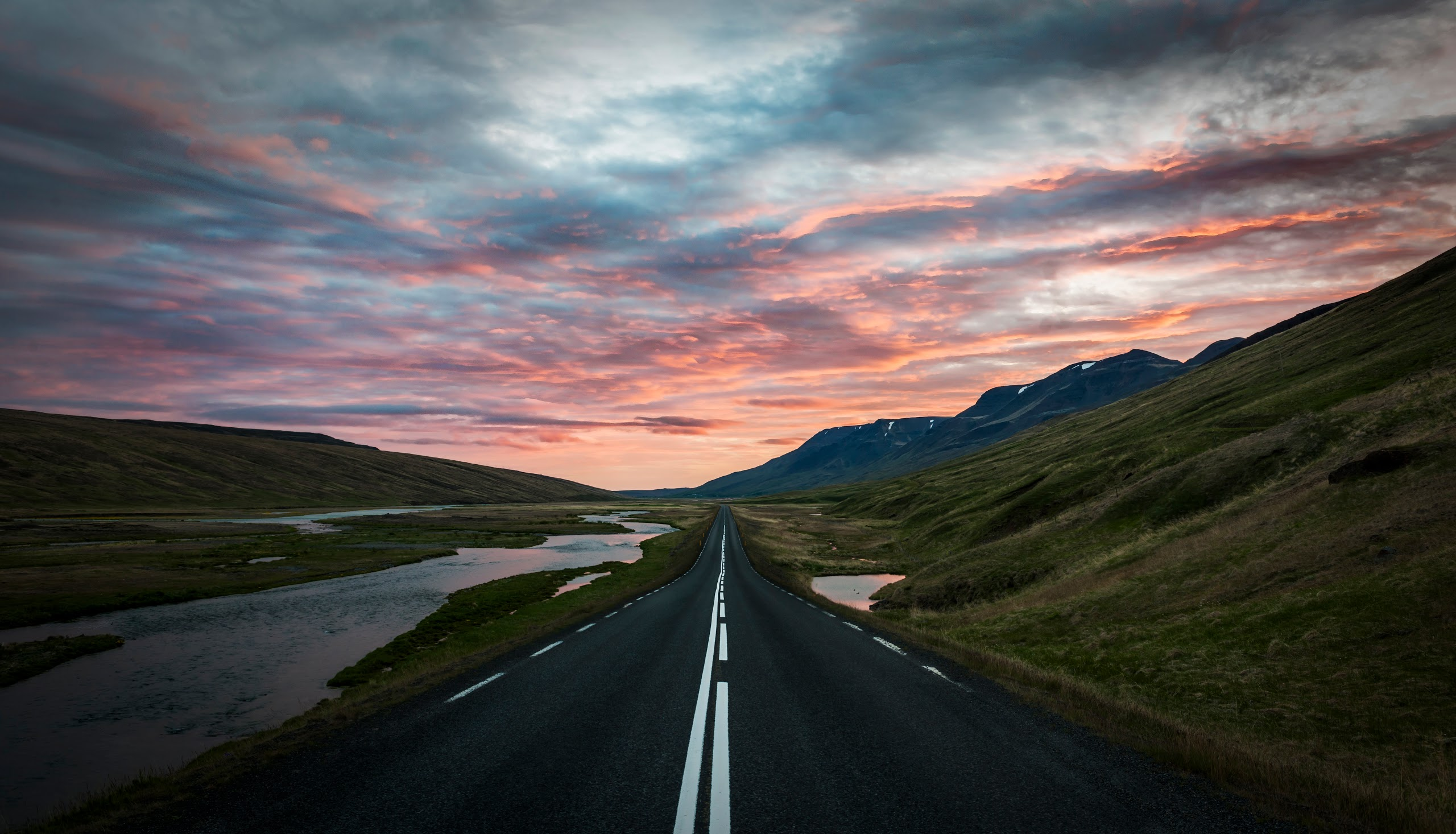 Fall Wallpapers For Tablet Trey Ratcliff Iceland Landscape Road Wallpaper