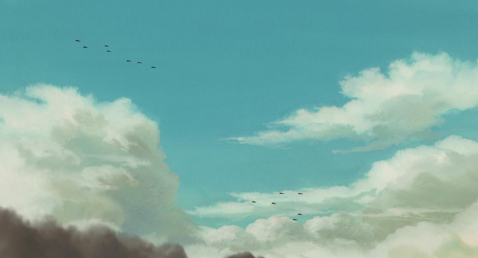 Wallpaper For Tablet Cute Studio Ghibli Hayao Miyazaki Anime Landscape Anime Sky
