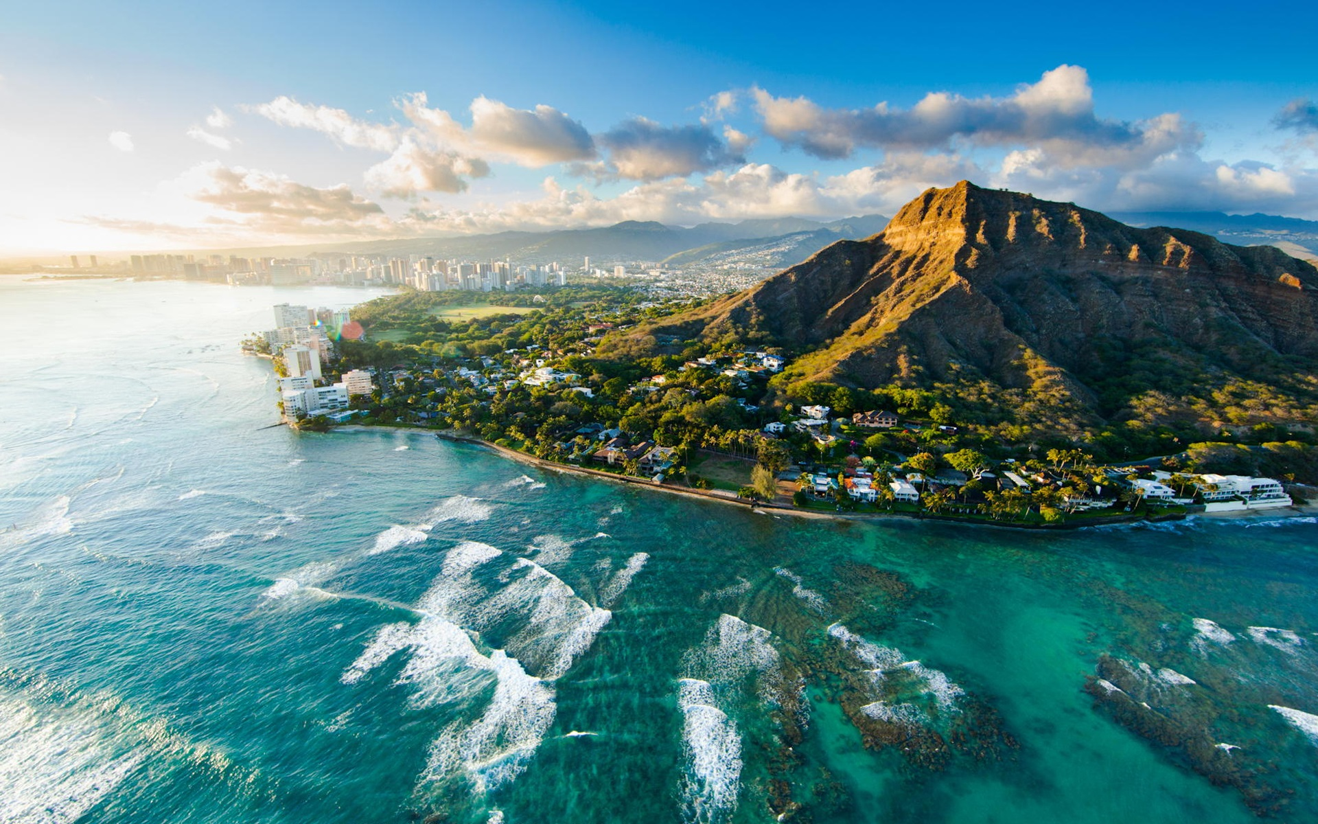 Anime Sunset Wallpaper Diamond Head At Sunset Hawaii Usa Beautiful City Sea