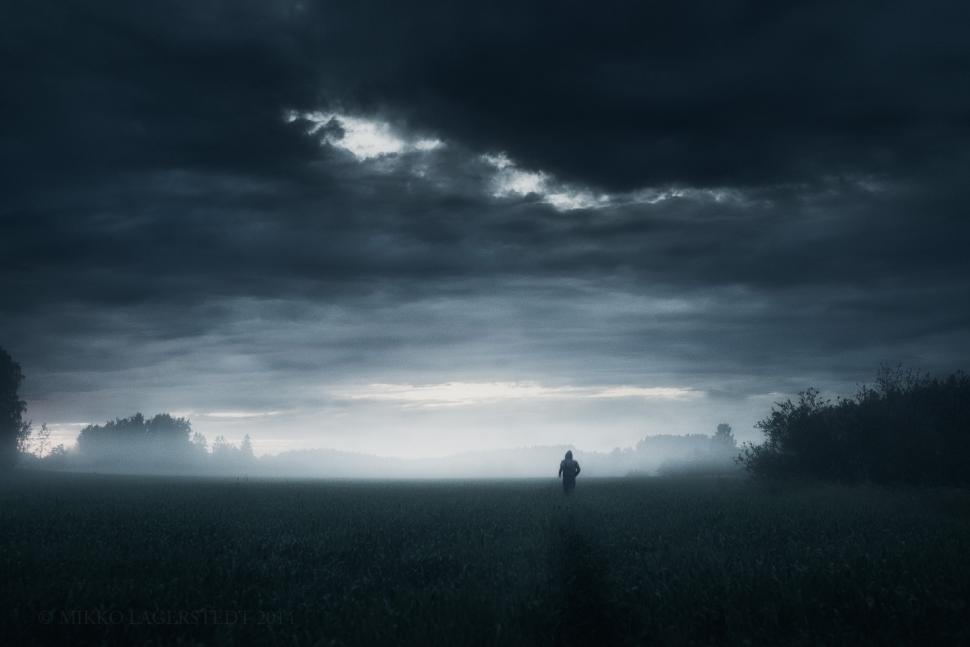 Heavy Bikes And Cars Wallpapers Free Download Dark Grass Horizon Rain Sky Wallpaper Nature And