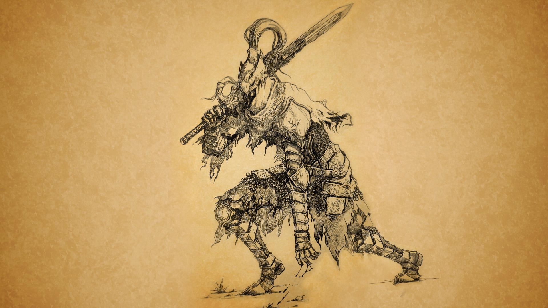 Dark Souls 3 Wallpaper Quote Dark Souls Sketch Drawing Sword Hd Wallpaper Games