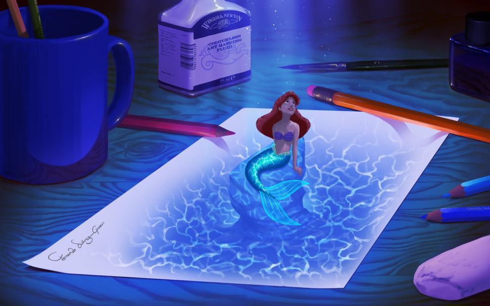 Cute Little Mermaid Wallpaper The Little Mermaid Ariel Drawing Mermaid Paper Hd