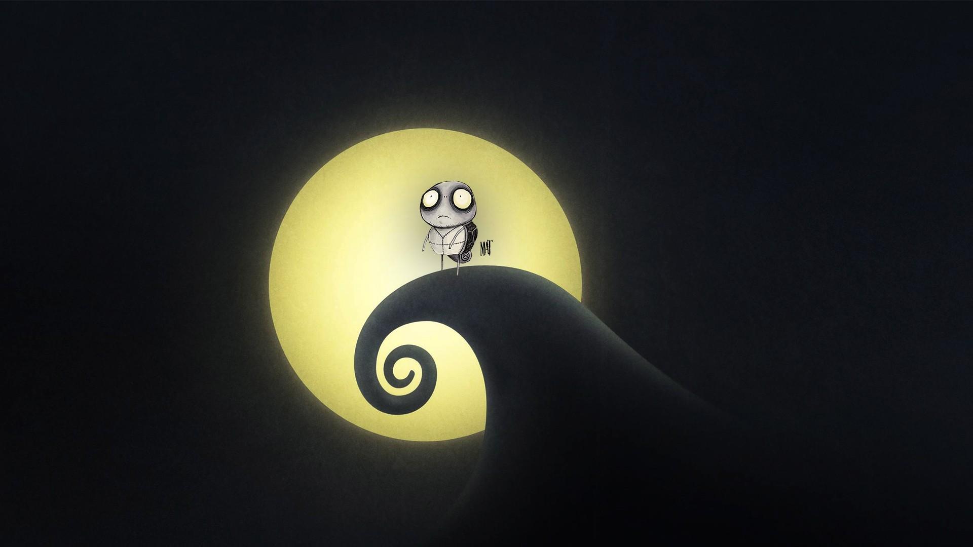 Mobile Wallpaper Cute Baby Tim Burton Nightmare Shadow Lights Wallpaper Anime