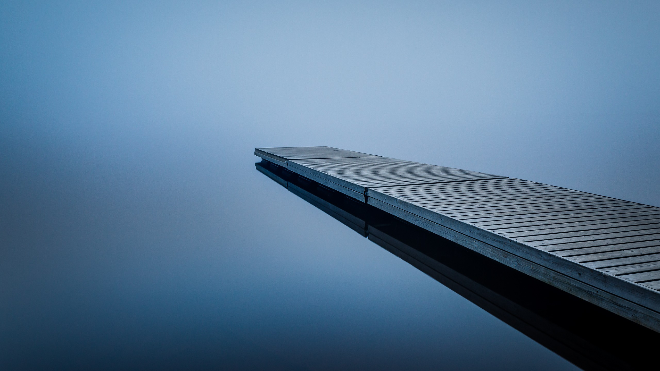 Cute Anime Wallpaper Hd Free Download Minimalism Calm Waters Finland Mist Water Bridge