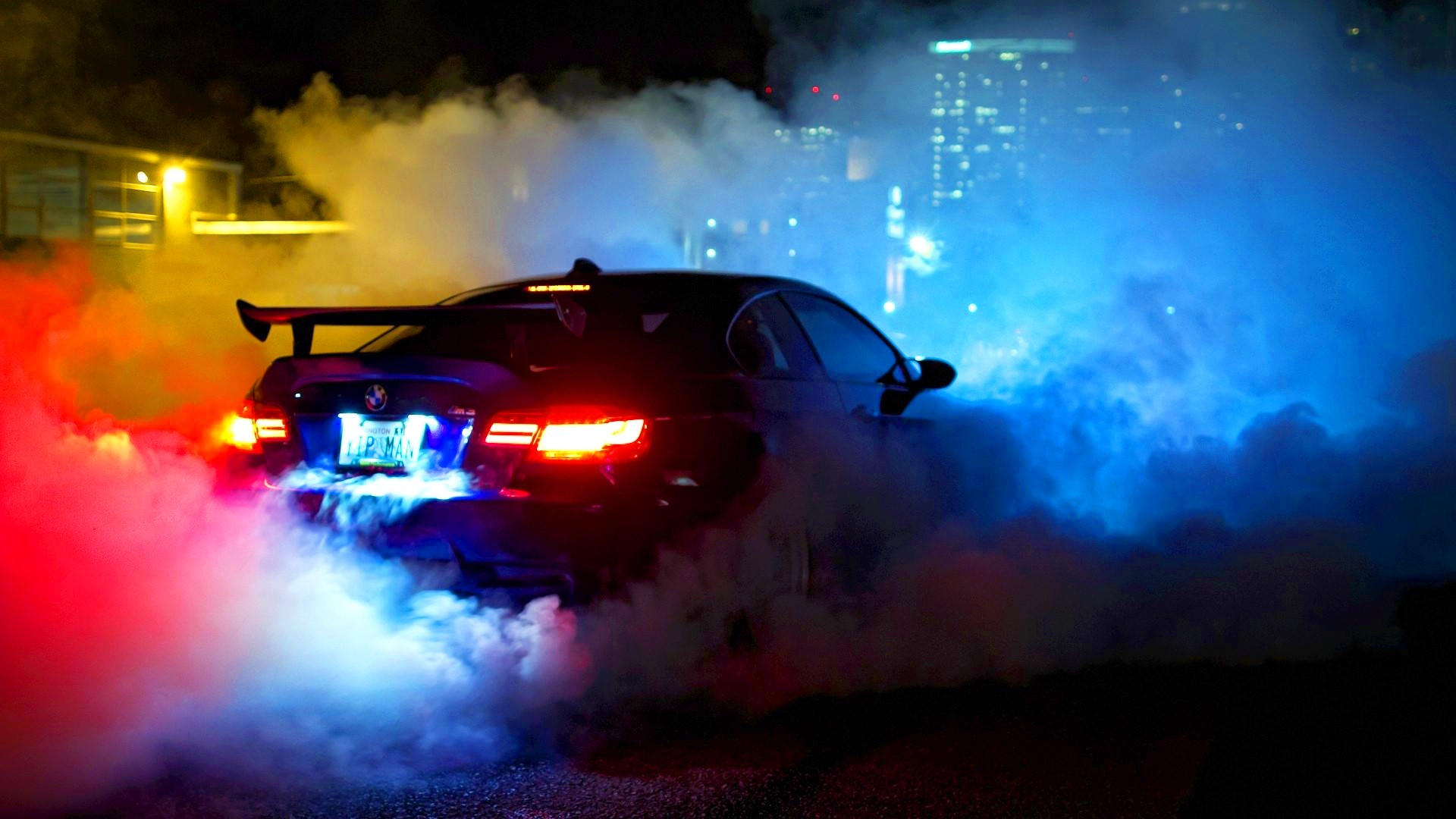 Muscle Cars Burnout Wallpapers Smoke Bmw Car Night Driving Wallpaper Cars