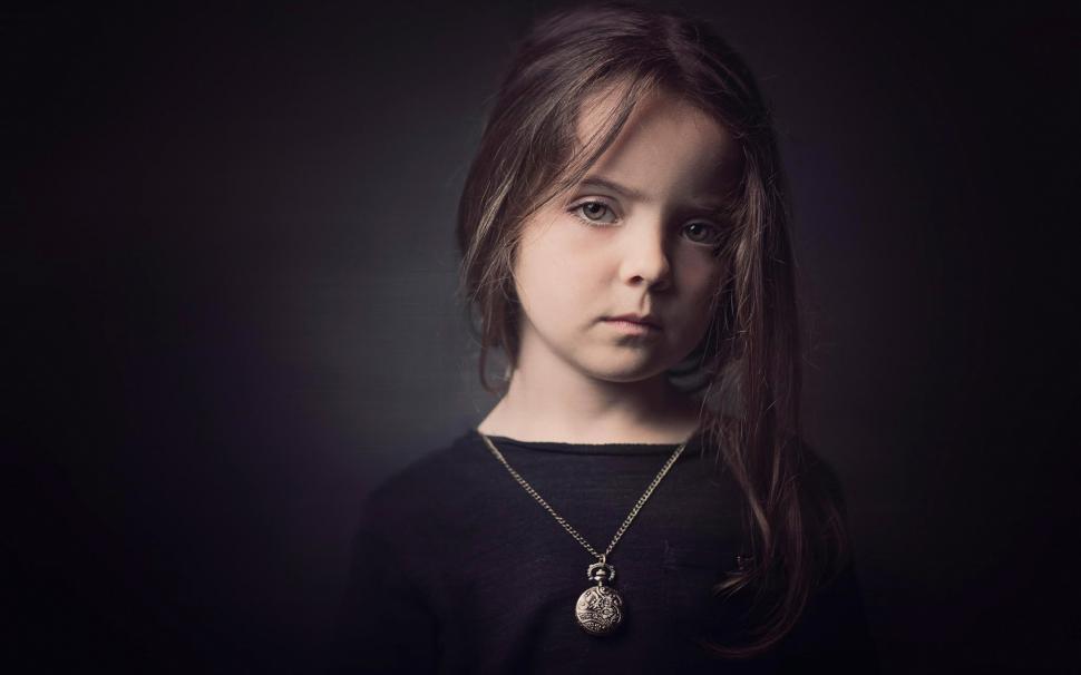 Cute Little Girl Hd Wallpapers 1080p Cute Little Girl Black Dress Black Background Wallpaper