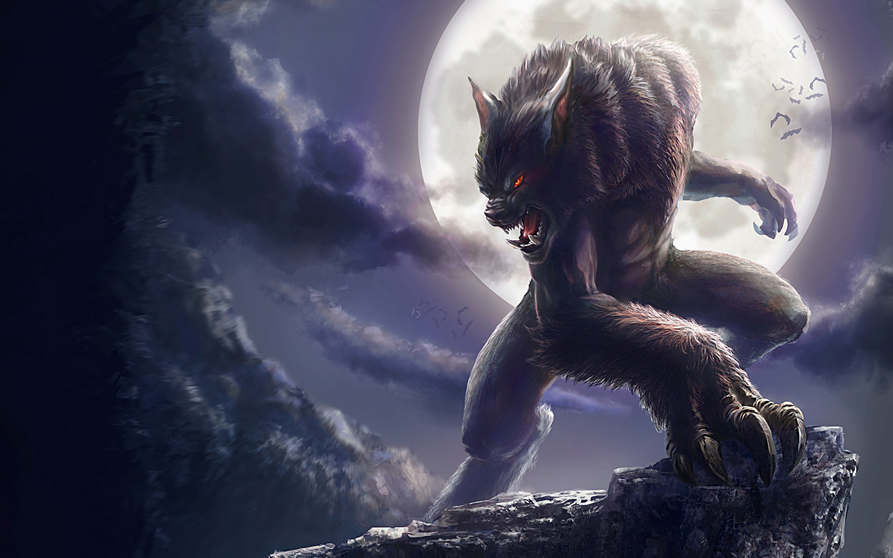 Wallpaper 3d 1080p Free Download For Mobile Werewolf Wallpaper Art And Paintings Wallpaper Better
