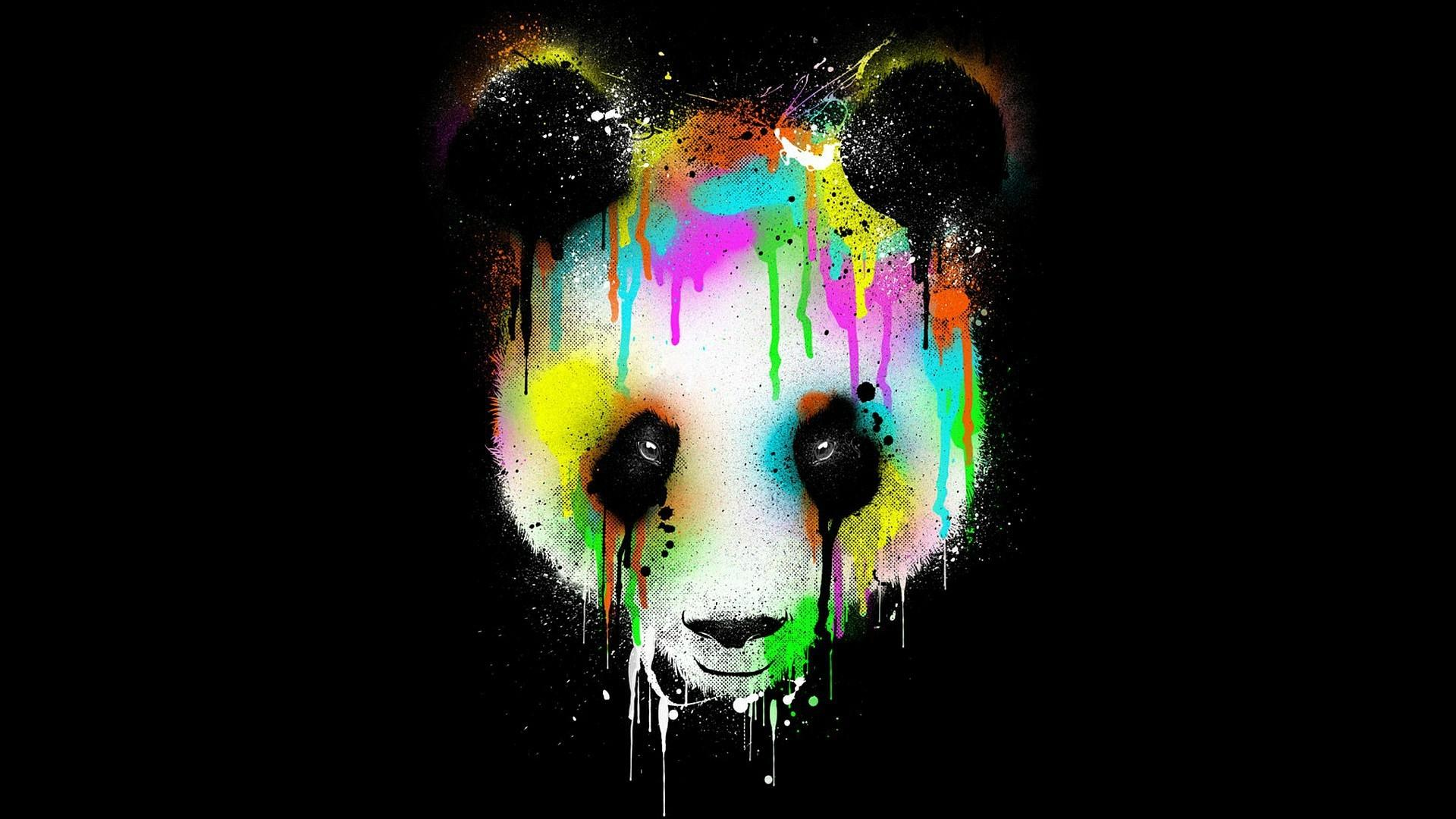 Awesome Cute Skull Wallpapers Colorful Panda Face Wallpaper Other Wallpaper Better