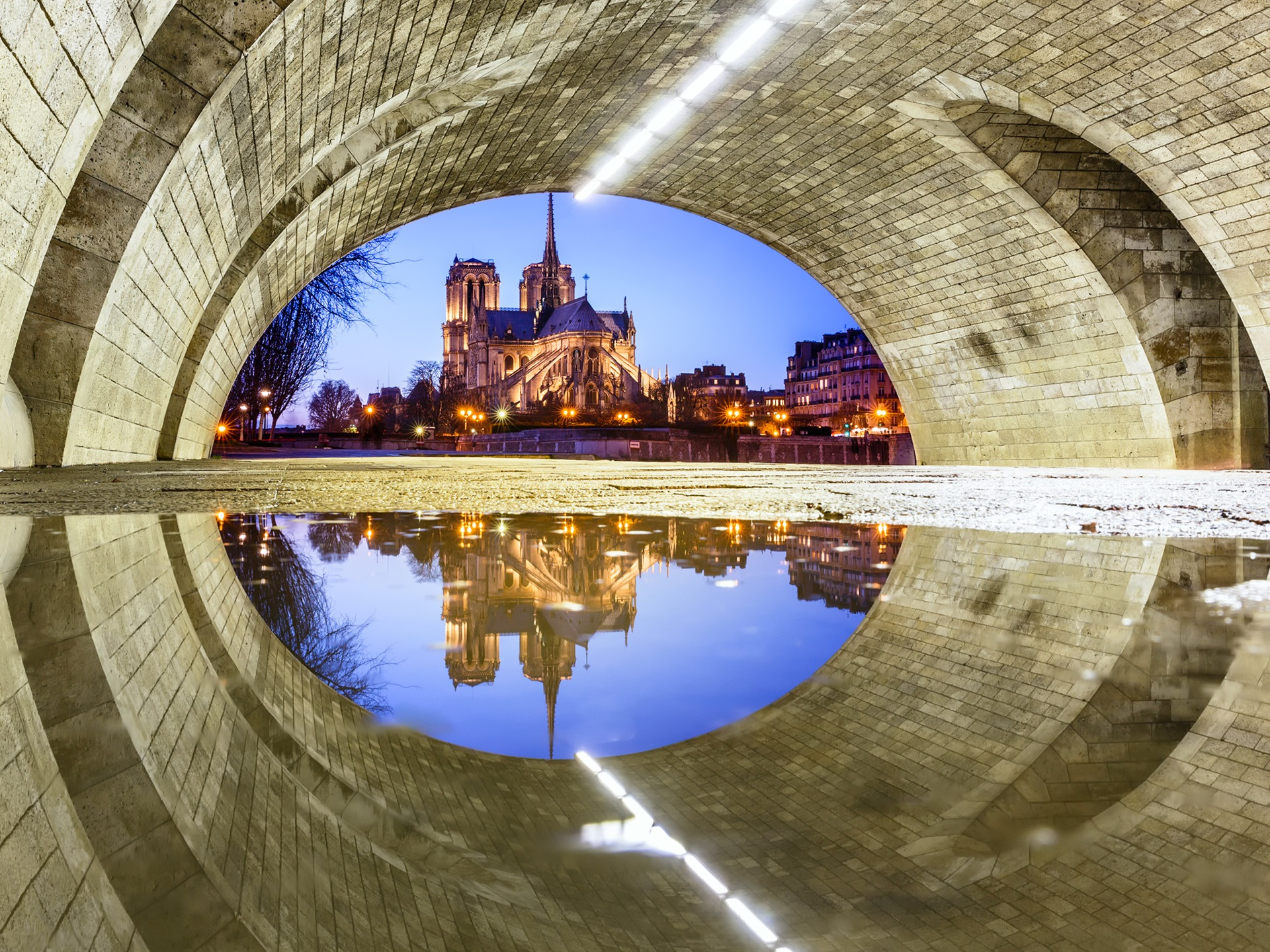Cute Mobile Wallpaper Landscape France Paris Notre Dame Cathedral Under The Bridge