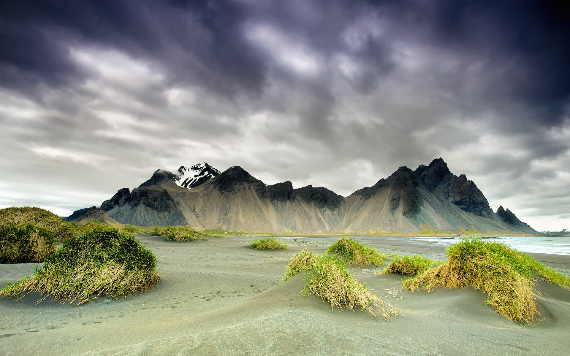 Free 3d Scenic Wallpaper Iceland Nature Scenery Mountains Clouds Spring