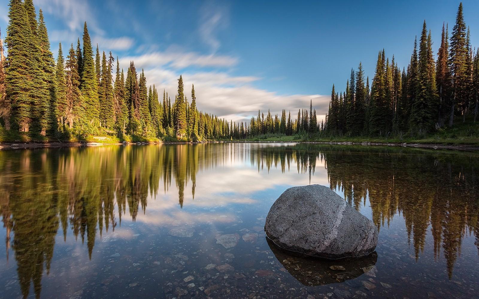 Cute Anime Lock Screen Wallpaper British Columbia Canada Calm Forest Lake Landscape