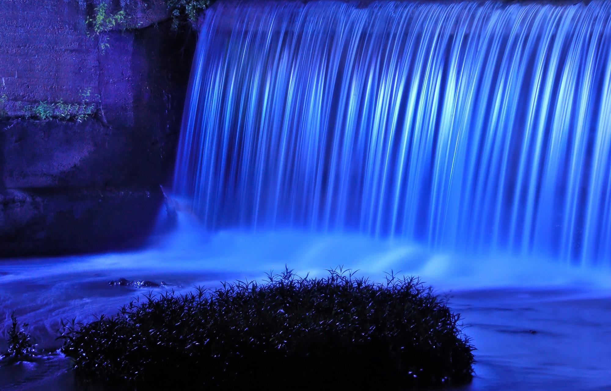 Desktop Wallpaper Fall Water Blue Waterfall Wallpaper Colorful Wallpaper Better