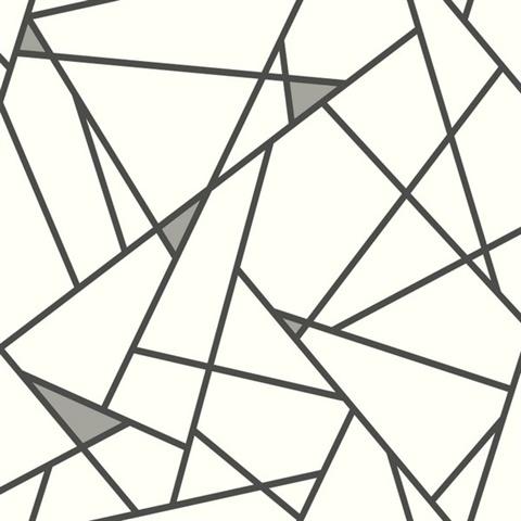 Prismatic Wallpaper RY2703 Black Modern Geometric Design Wallpaper