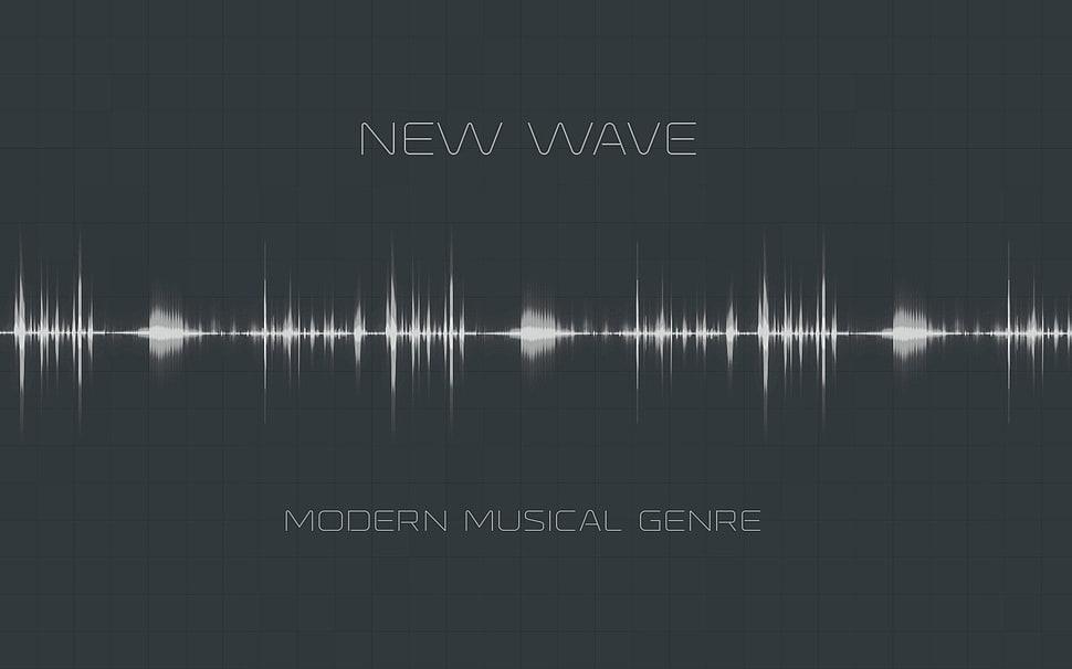 New Wave album, texture, typography, digital art, music HD wallpaper