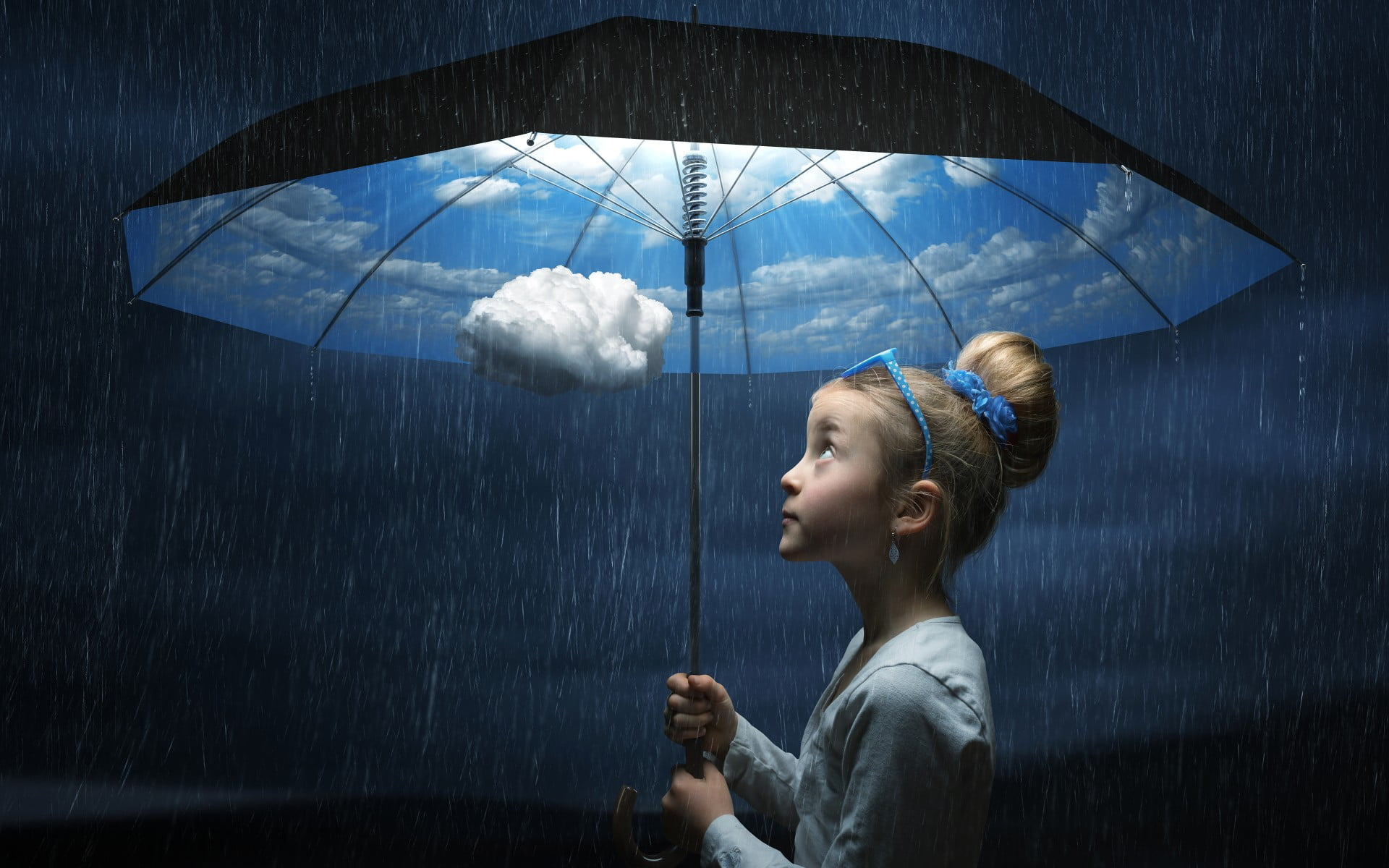Free Download Girl Wallpaper For 360x640 Girl Holding Umbrella With Rain Hd Wallpaper Wallpaper Flare