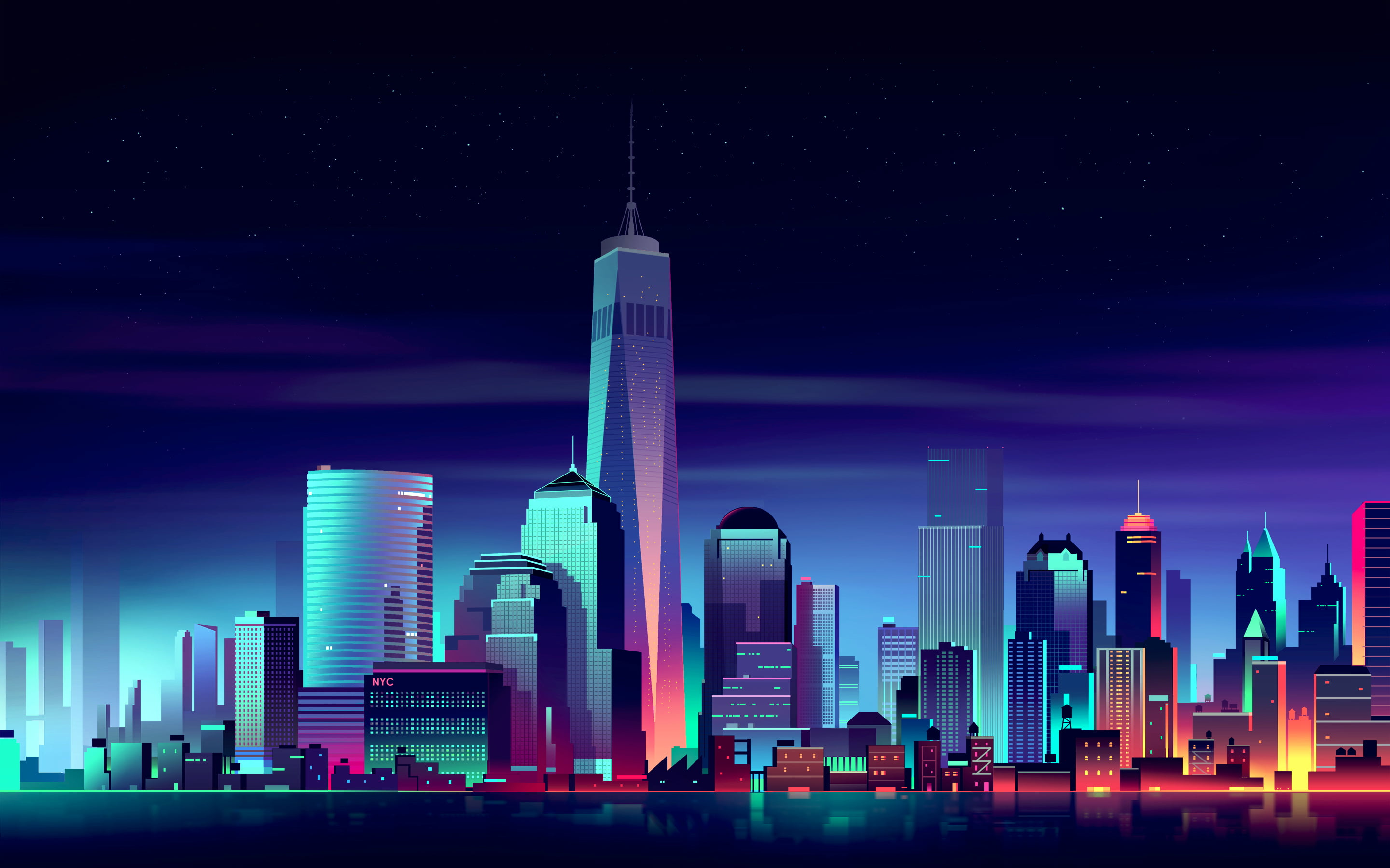 Iphone 2g Wallpaper For Iphone X Photo Of High Rise Buildings Animated Artwork Hd Wallpaper