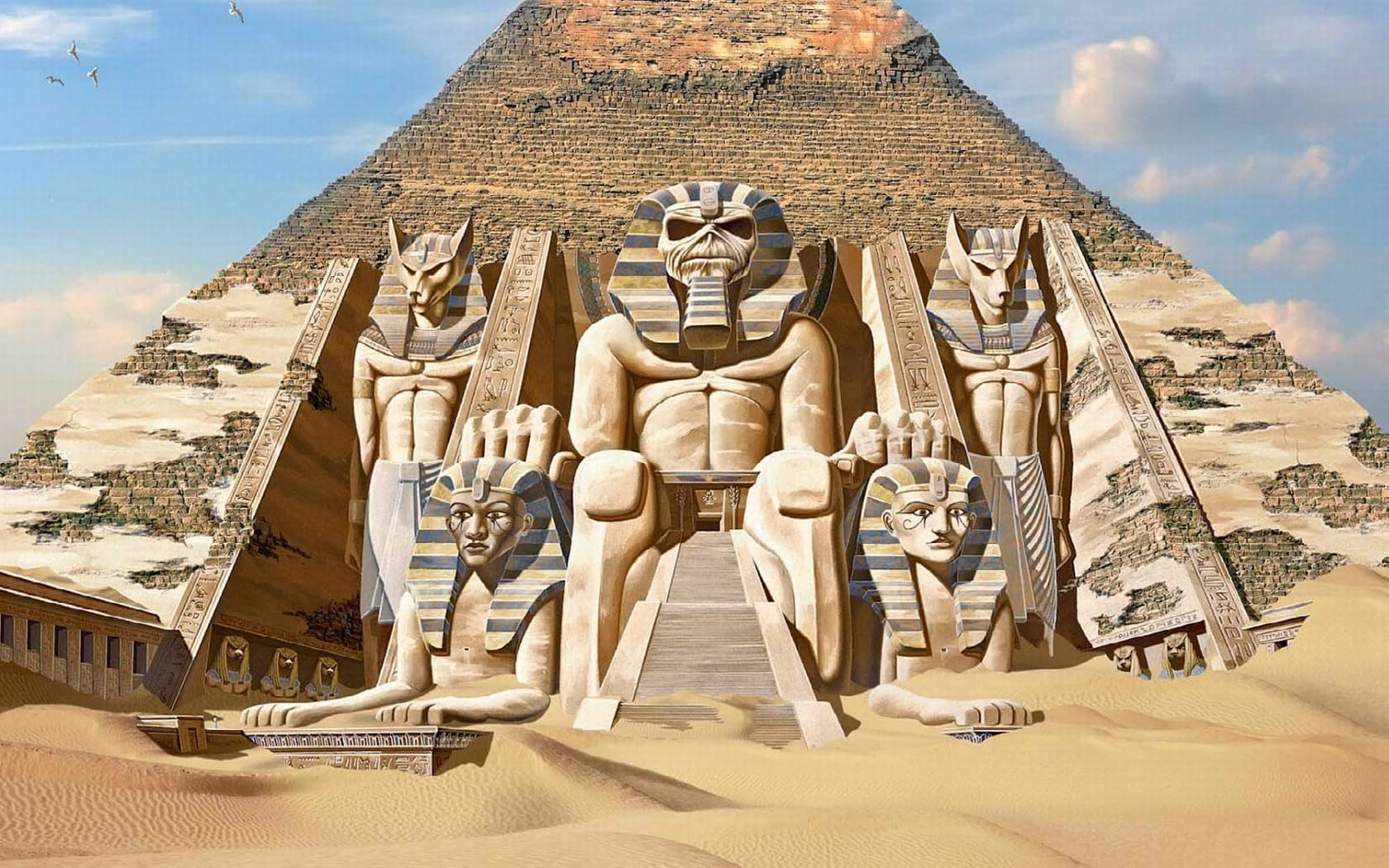 Iphone 2g Wallpaper For Iphone X Pyramid With Statues Hd Wallpaper Wallpaper Flare