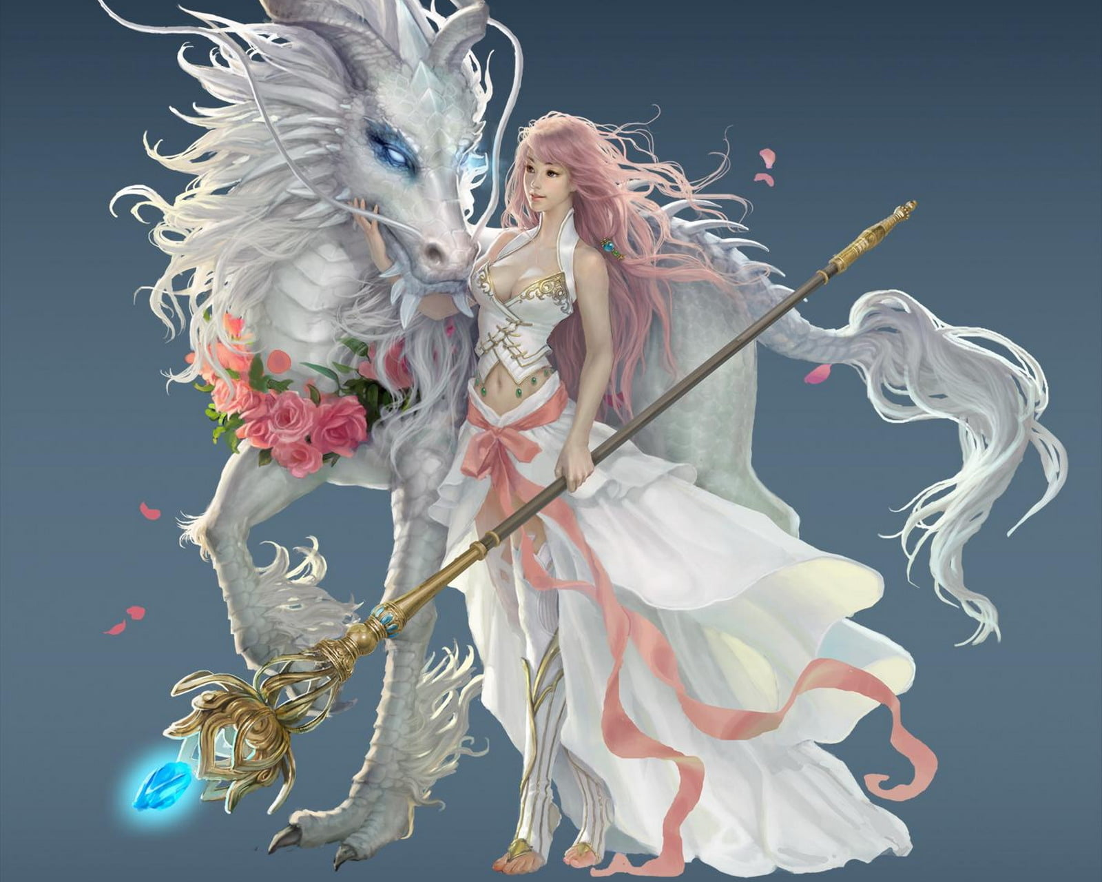 Iphone 2g Wallpaper For Iphone X Female Anime Character Wearing White Dress Beside White