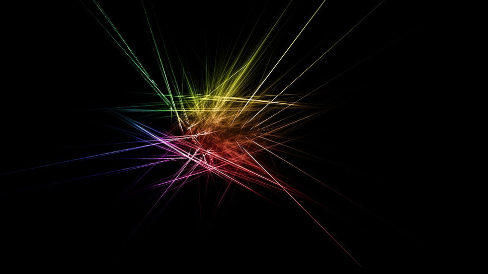 Multicolored light art, abstract, dark, simple background, simple HD