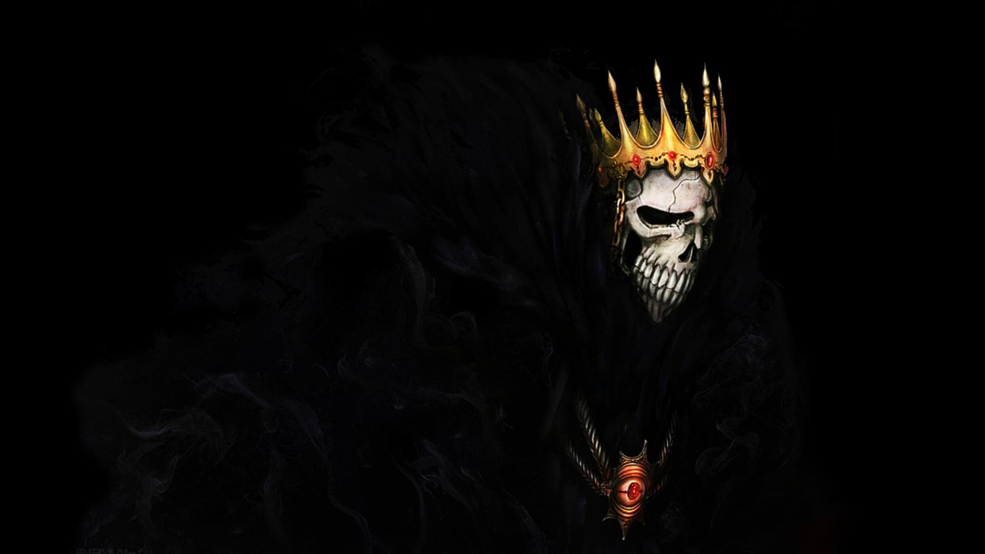 Iphone 2g Wallpaper Digital Art Of Skull Wearing Crown Hd Wallpaper