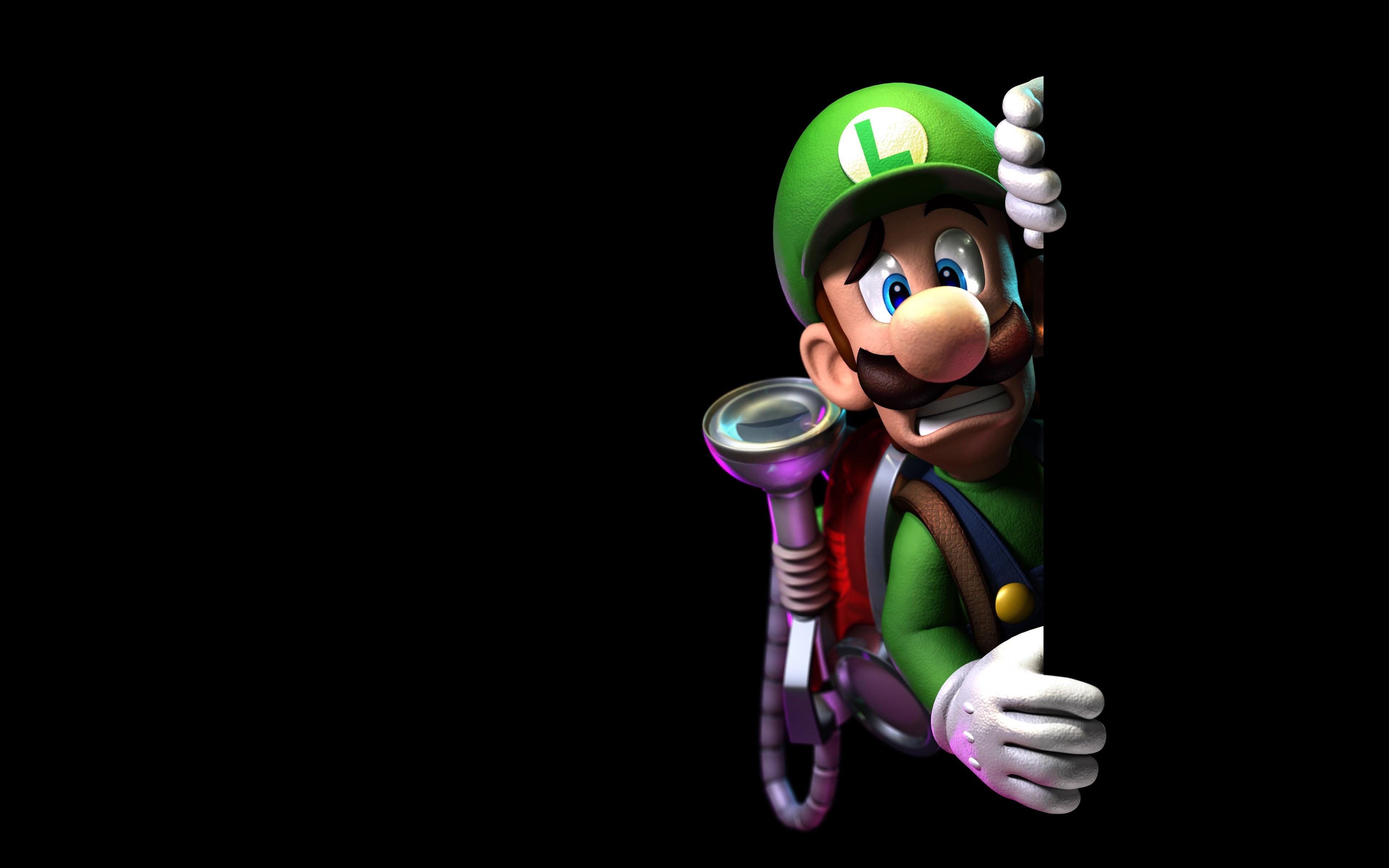 Iphone Se Wallpaper 4k Luigi Of Super Mario Illustration Hd Wallpaper Wallpaper
