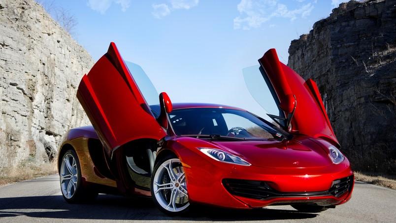 Super Cars Wallpapers Free Download Red Mclaren Mp4 12c Hd Wallpaper Wallpaperfx