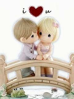 Cute Barbie Wallpapers 240x320 Download Anime Couple Manga Vs Anime Emotions For Your