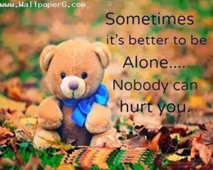 Cute Pari Doll Wallpapers Download Its Better To Be Alone 1 Heart Touching Love