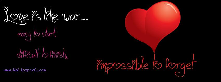Book Lovers Quotes Wallpaper Download Love Impossible To Forget Fb Cover Love