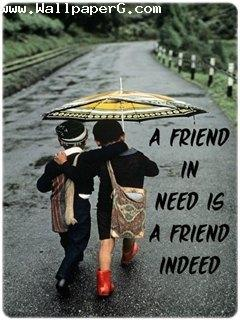 Sweet Love Quotes Wallpaper Download Download A Friend In Need Is Friend Indeed Friendship
