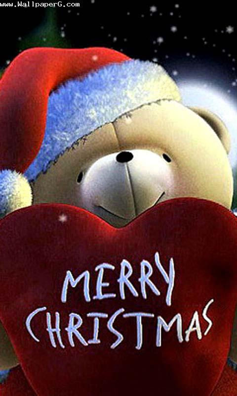 Cute Teddy Bear Live Wallpaper Free Download Download Merry Christmas To All My Friends Christmas Day