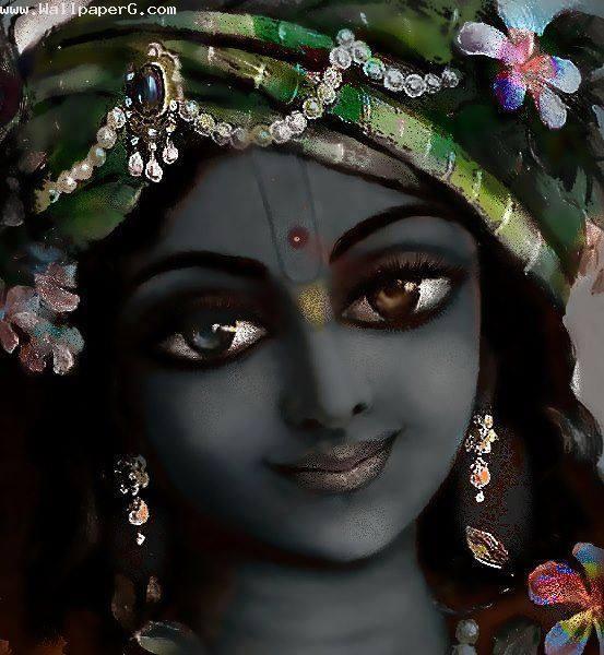 Cell Phone Wallpaper Girls Download Krishna Ji Painting Spiritual Wallpaper For