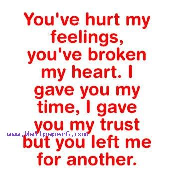 Heart Touching Quote Wallpapers Mobile Download But You Left Me For Another Heart Touching Love